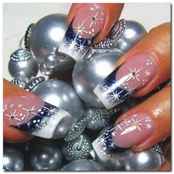 Нарощенные ногти новогодний дизайн