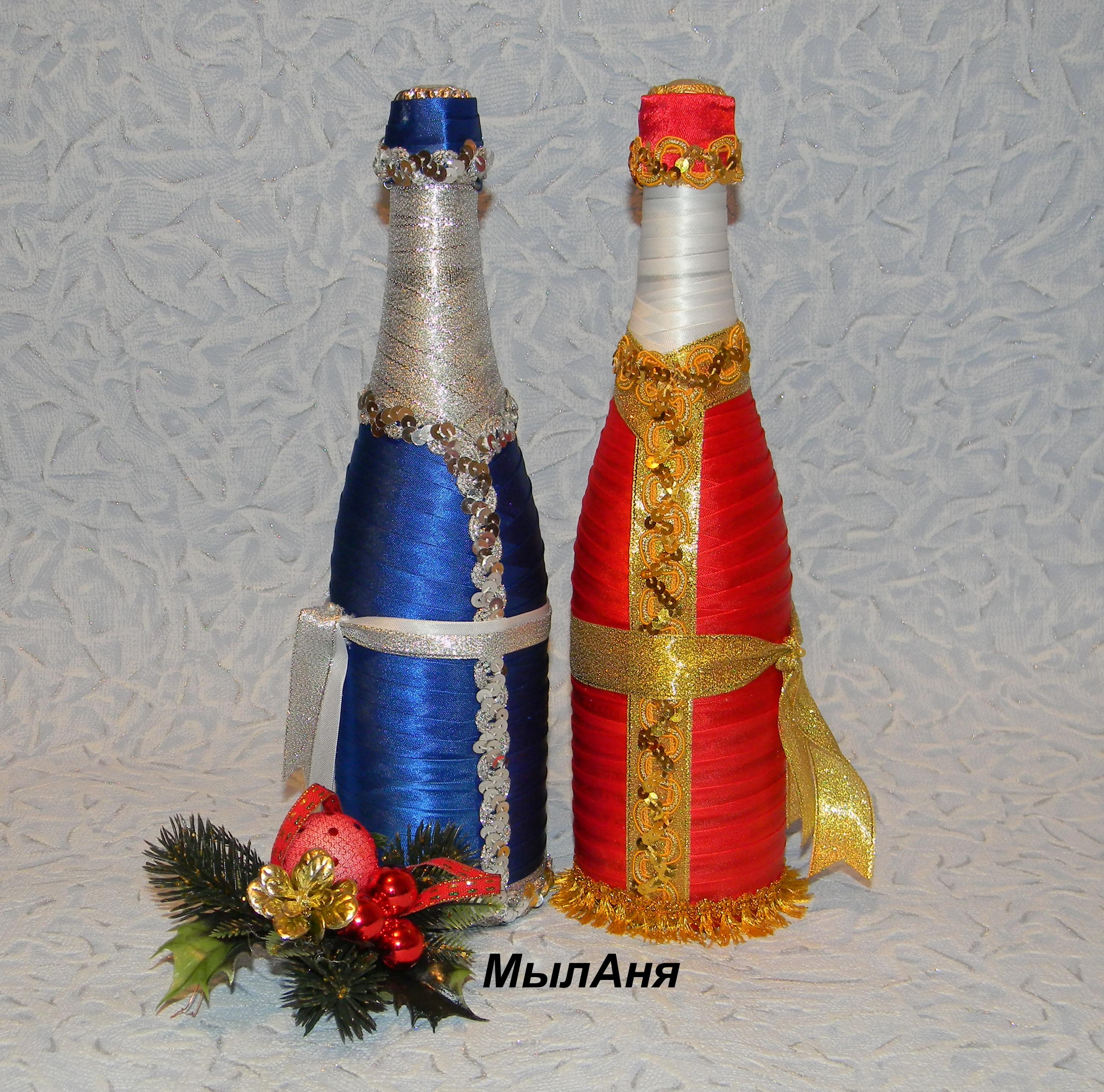 Съемное украшение для шампанского. Дед Мороз. Мастер 99