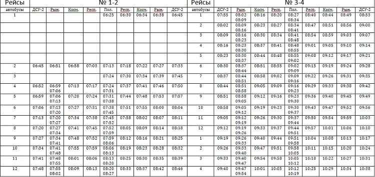 Расписание автобусов михайловское это